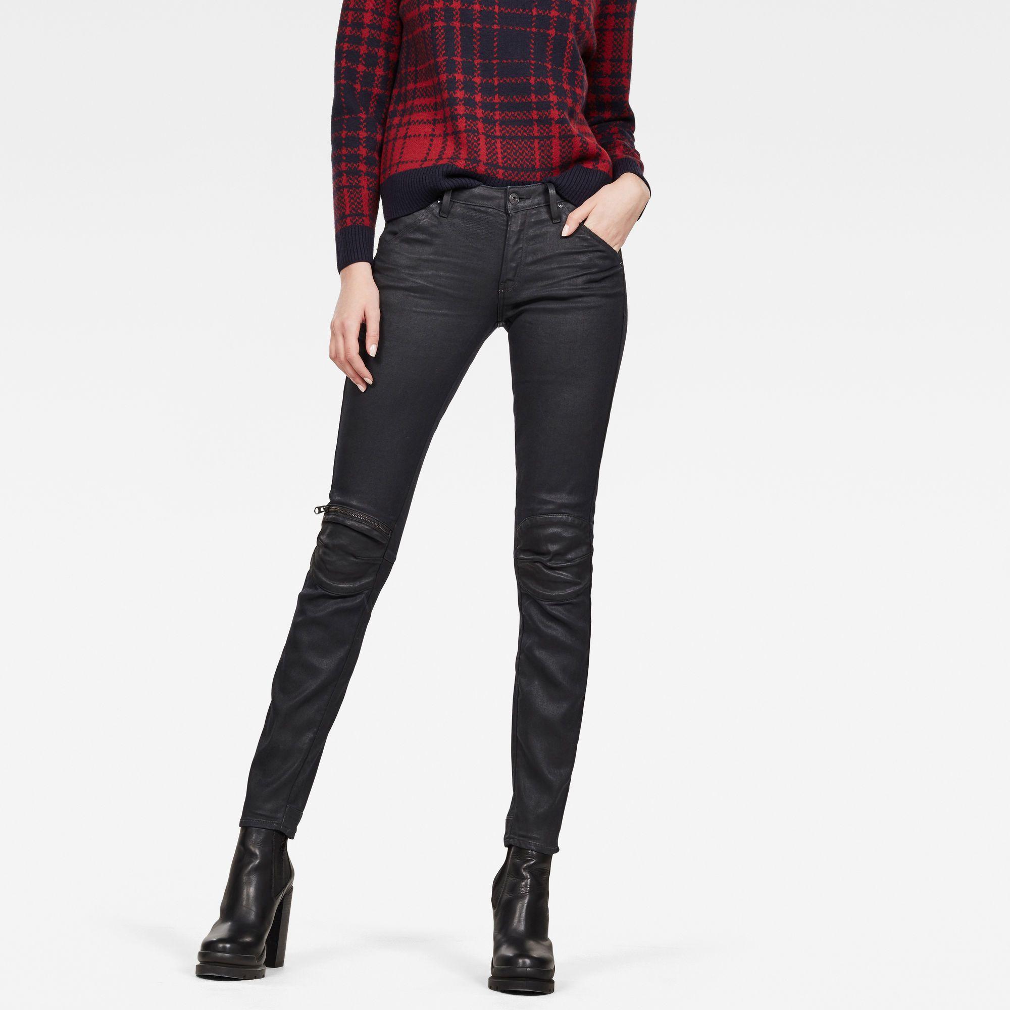 G-Star RAW 5622 Knee Zip Mid Skinny Jeans