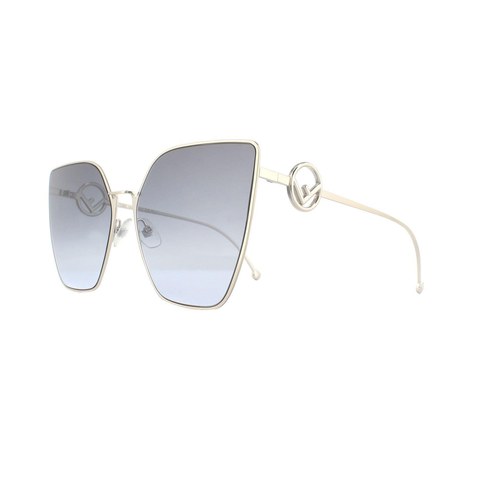 Fendi Sunglasses 0323/S 3YG GB Grey Gold Grey Gradient
