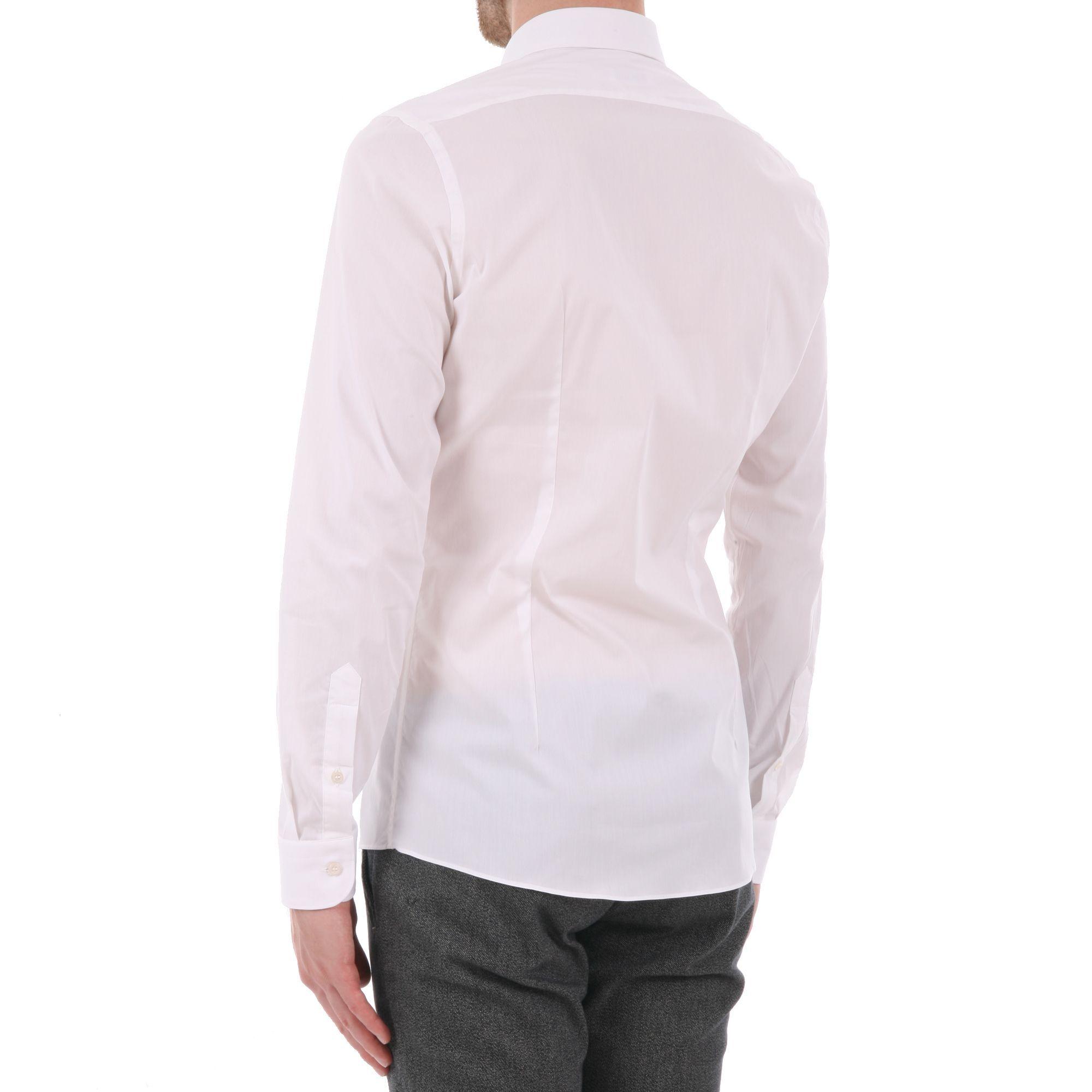 UNGARO MEN'S B3MAGOOL0U31520 WHITE COTTON SHIRT