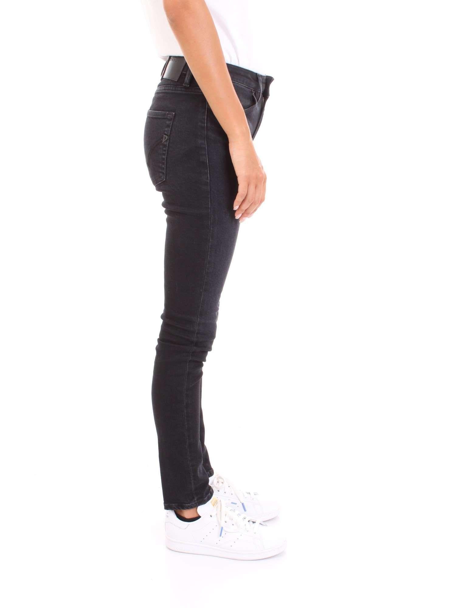 DONDUP WOMEN'S DP450DS0249W46999 BLACK COTTON JEANS