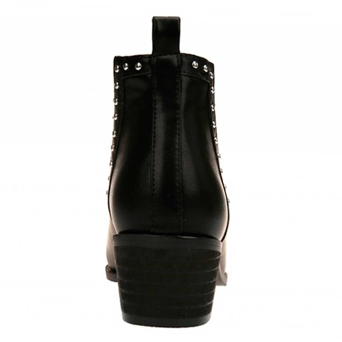 Montevita Studded Western Ankle Boot in Black