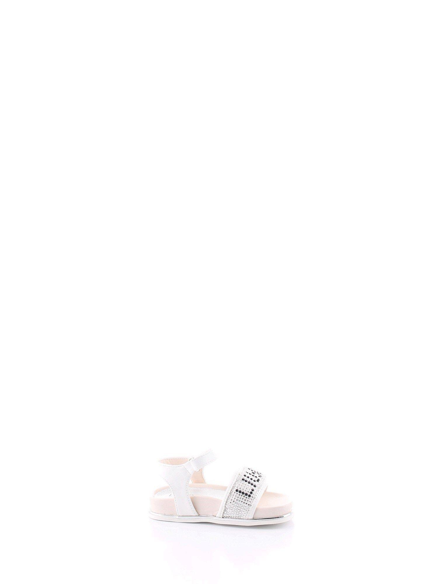 LIU JO GIRLS 4A0323EX013S1400 WHITE LEATHER SANDALS