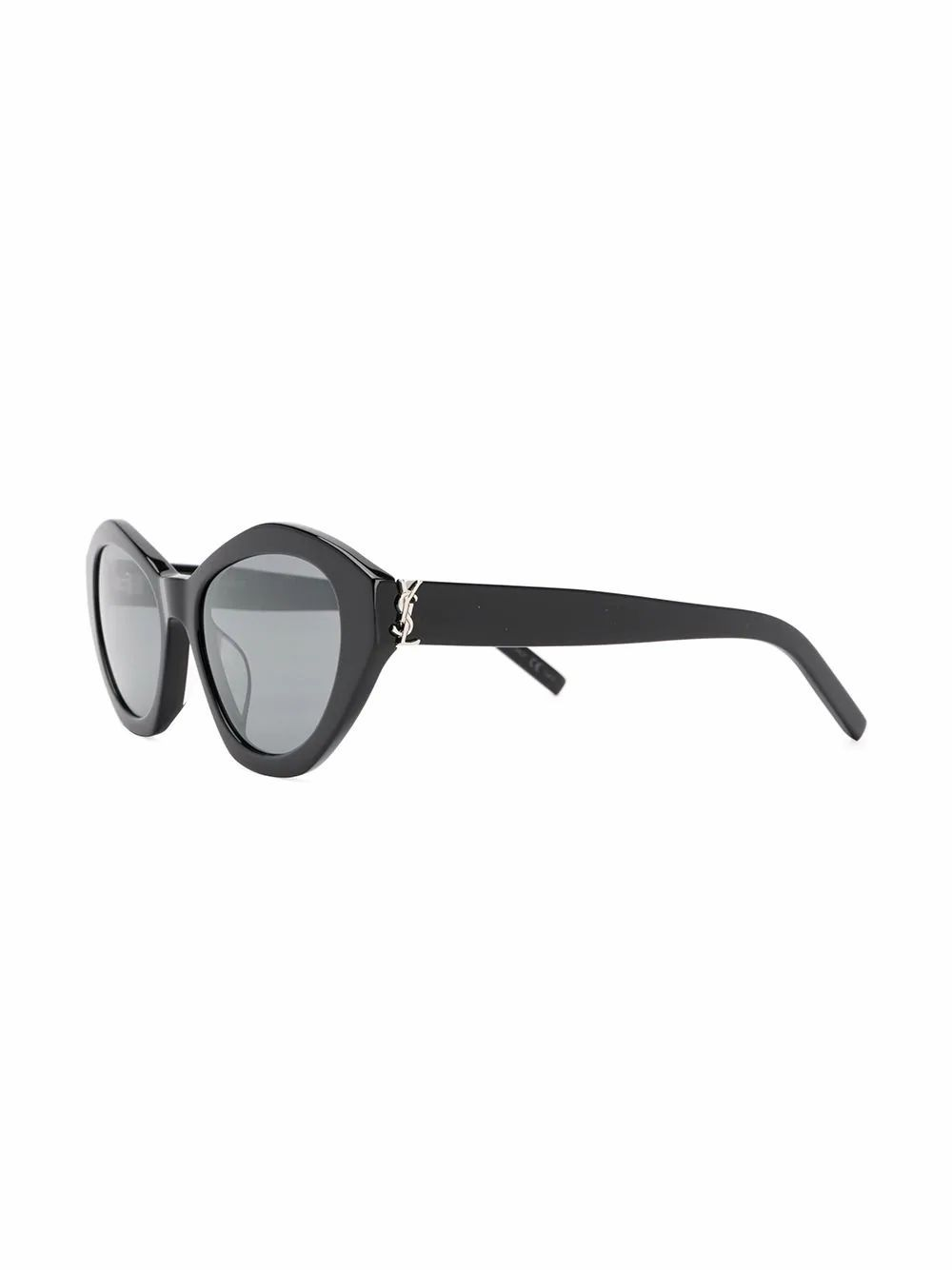 SAINT LAURENT WOMEN'S 610925Y99011002 BLACK ACETATE SUNGLASSES