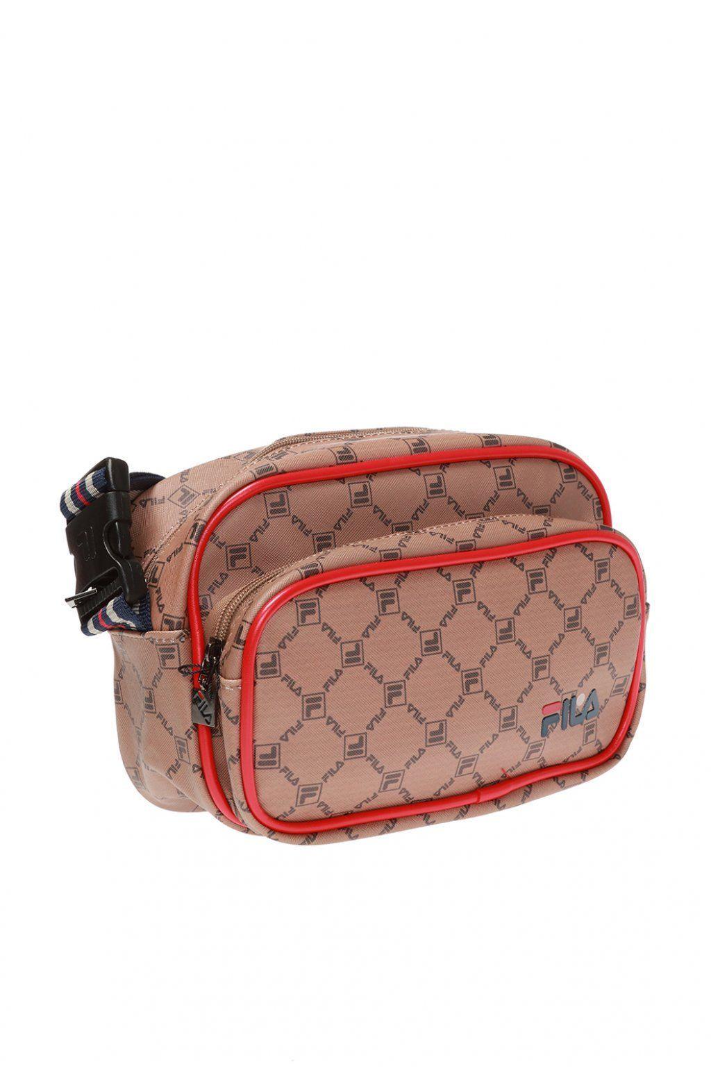 FILA  MEN'S 685087A414 PINK SYNTHETIC FIBERS MESSENGER BAG