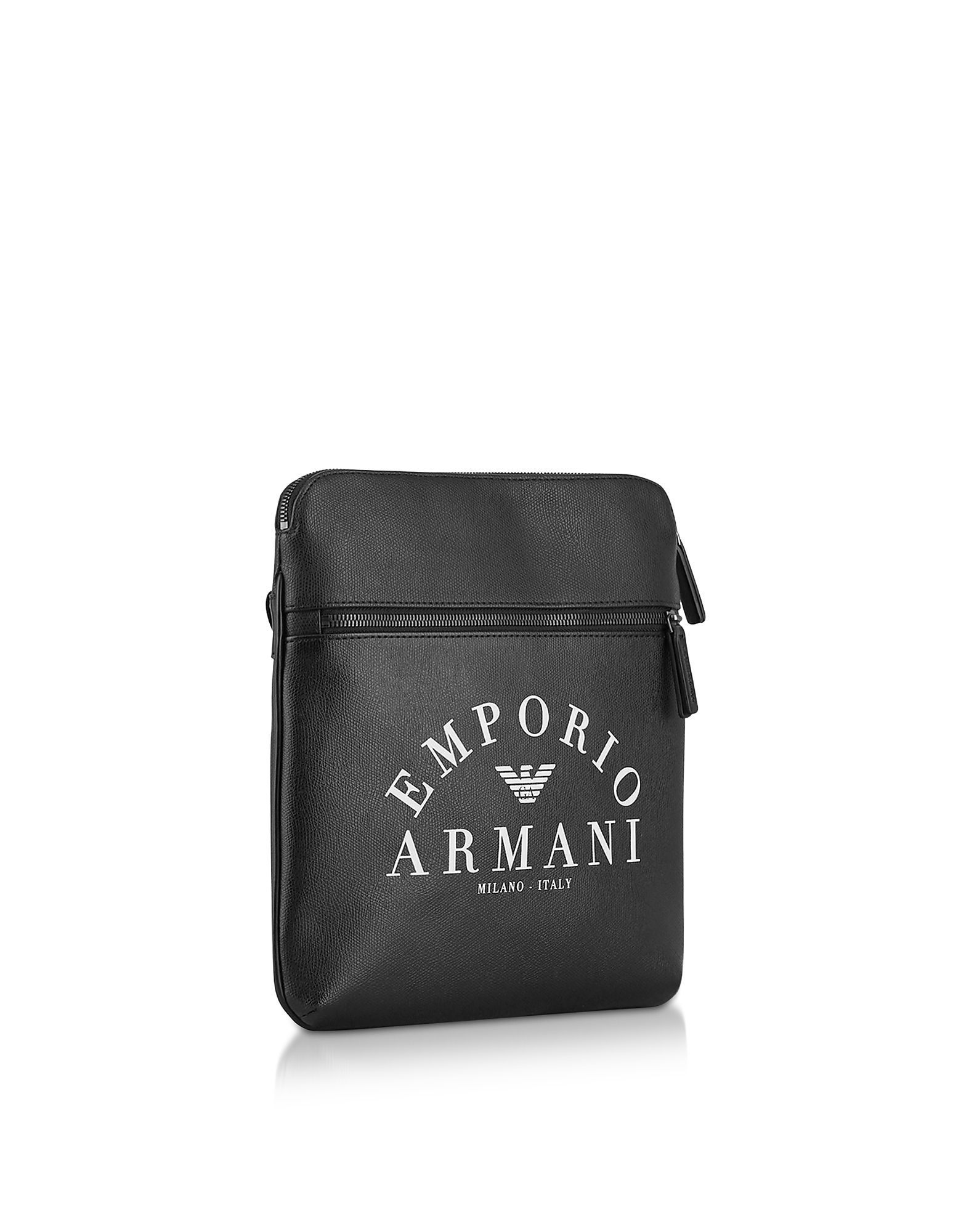 EMPORIO ARMANI MEN'S Y4M184YFE5J83896 BLACK POLYESTER MESSENGER BAG