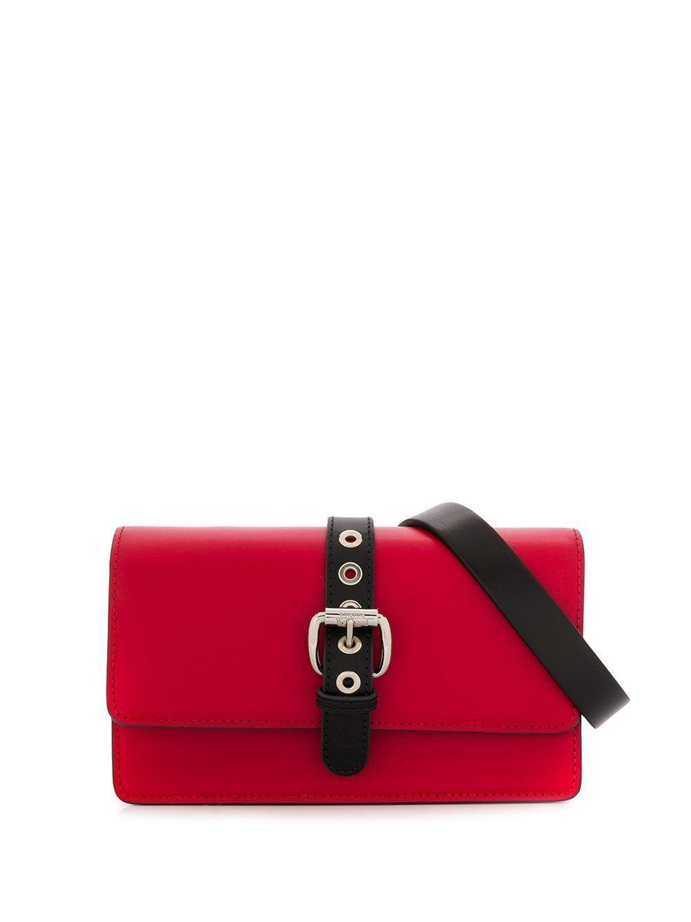 VIVIENNE WESTWOOD WOMEN'S 4307000440242LAH402 RED LEATHER BELT BAG