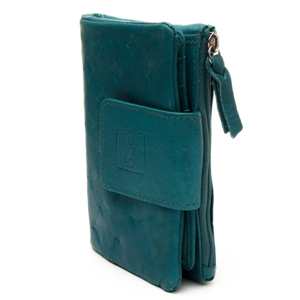 Montevita Leather Purse in Blue