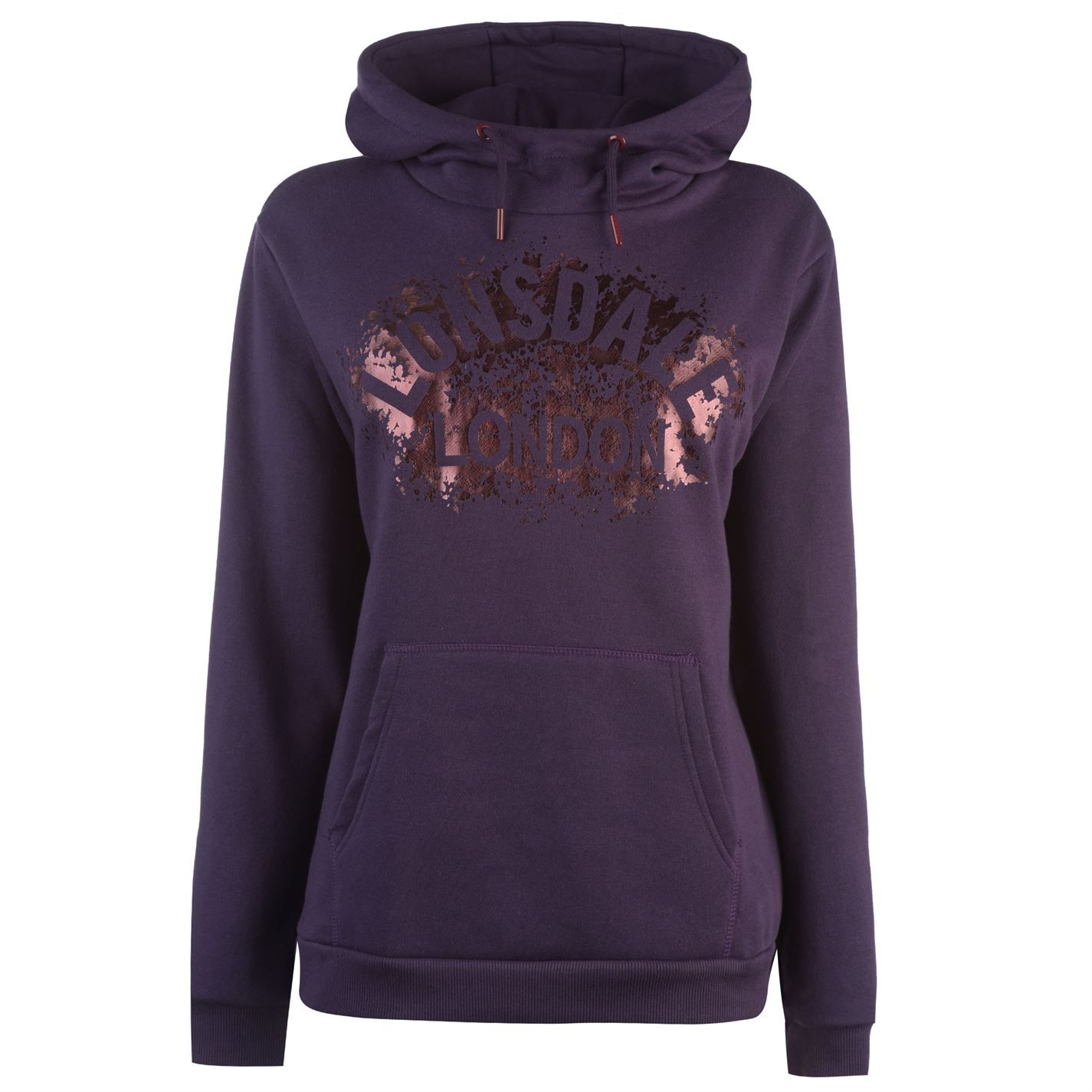 Lonsdale Womens OTH Hoodie Printed Logo Lightweight Casual Soft Pullover Top