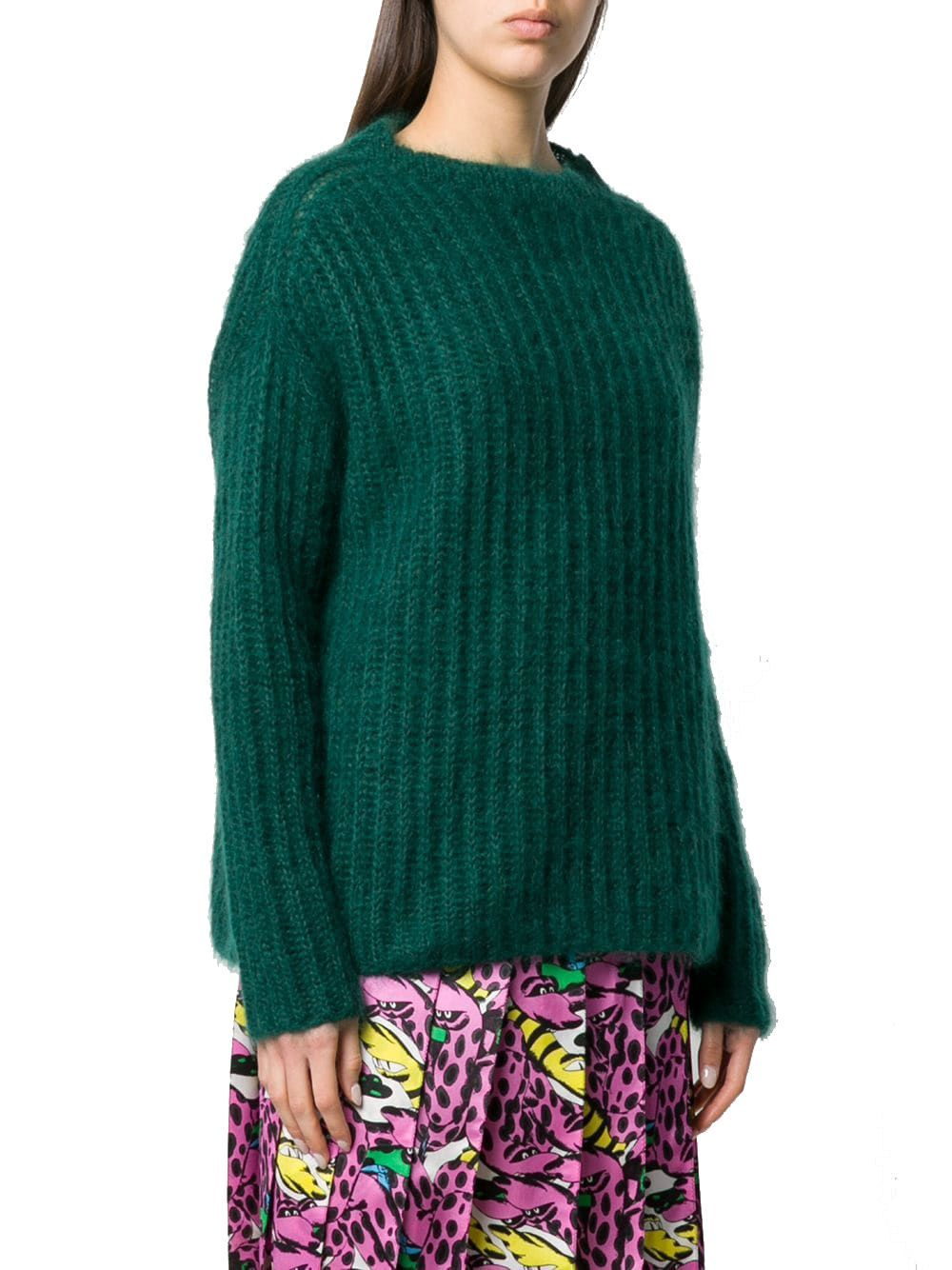 MARNI WOMEN'S GCMD0123A0FU18300V60 GREEN WOOL SWEATER