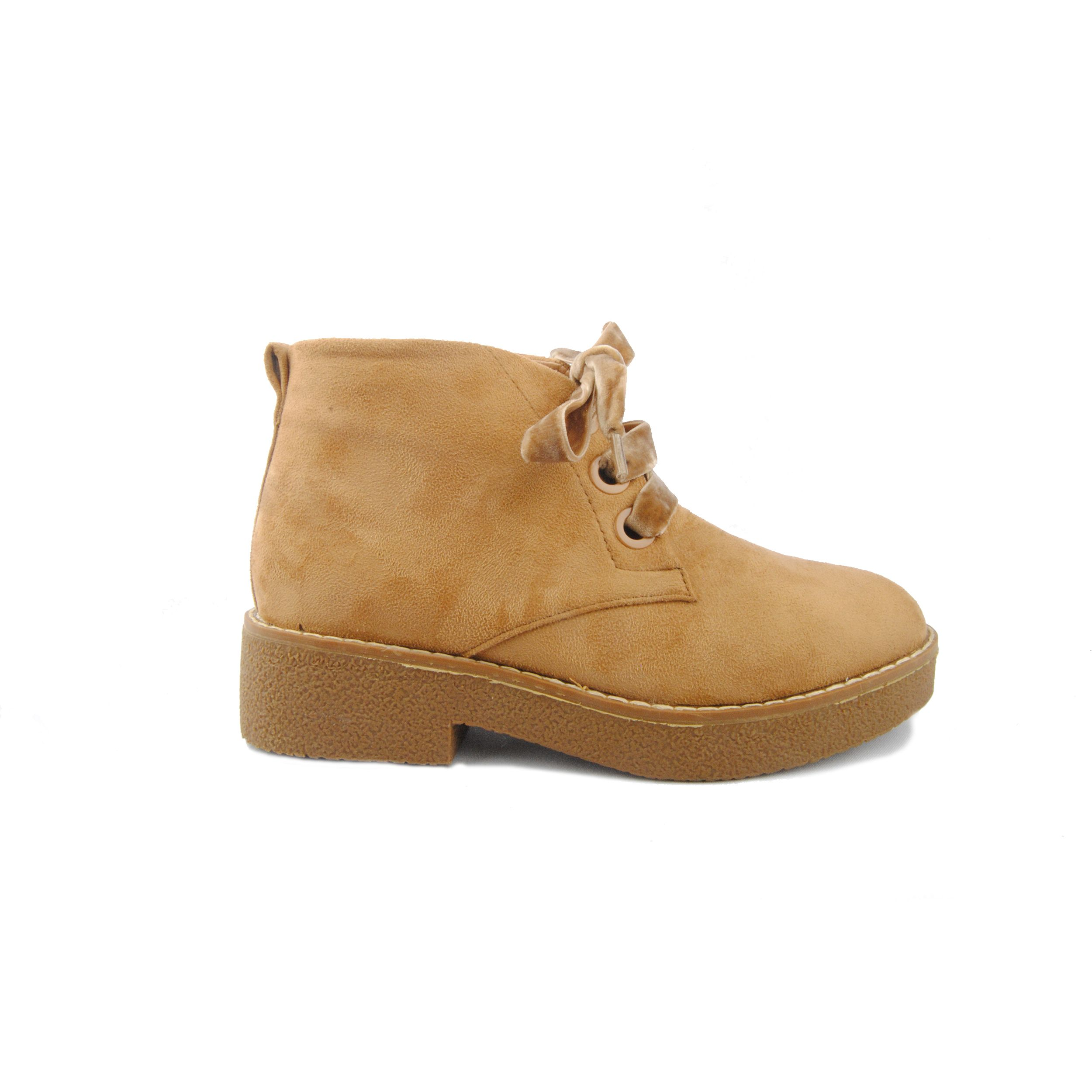 Montevita Lace Up Ankle Boot in Camel