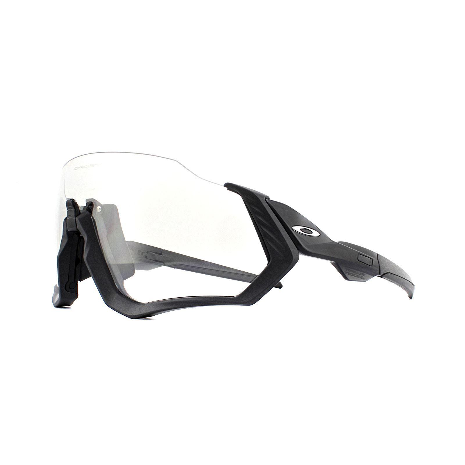 Oakley Sunglasses Flight Jacket OO9401-07 Steel Black Iridium Photochromic