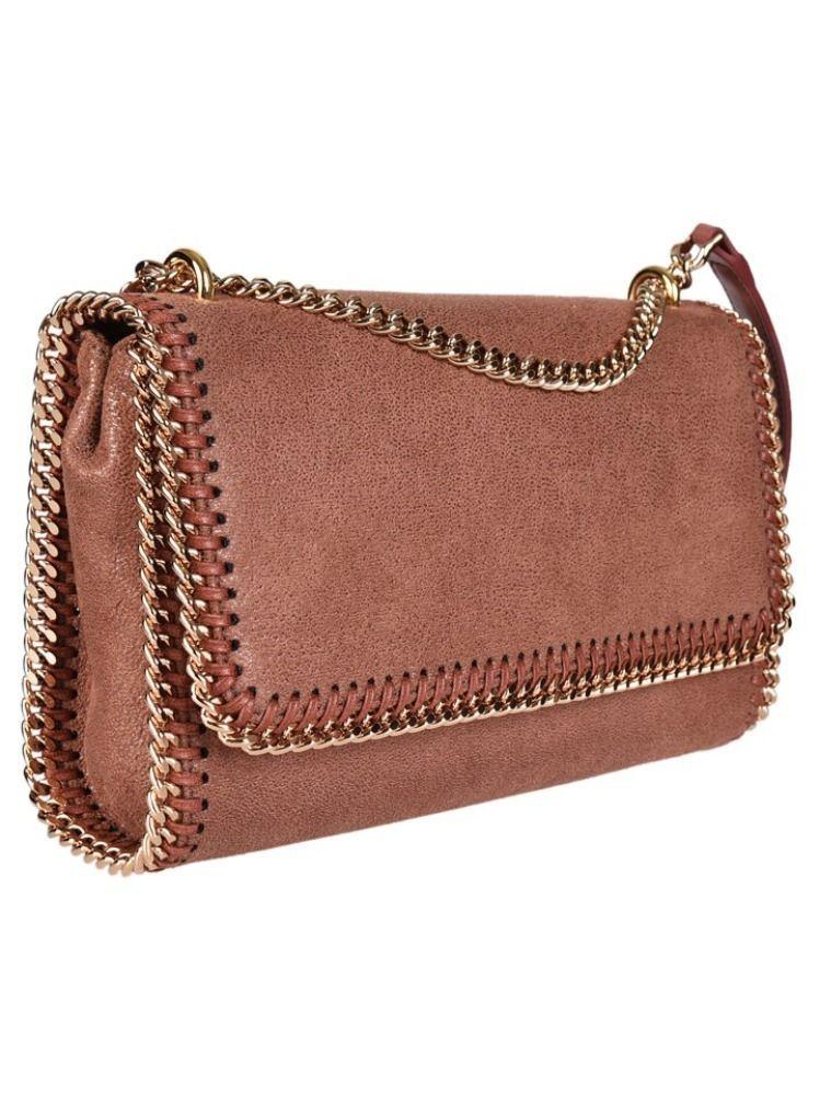 STELLA MCCARTNEY WOMEN'S 455128W93556464 BROWN POLYESTER SHOULDER BAG