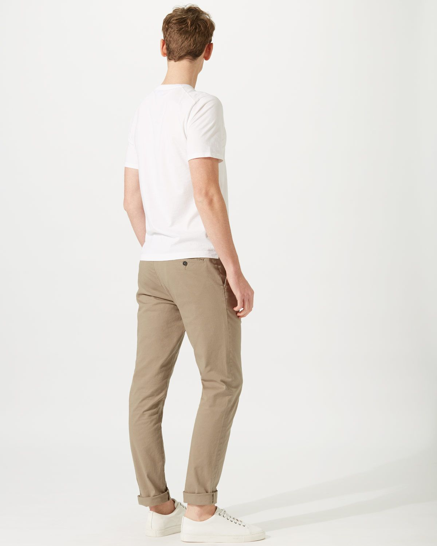 Garment Dye Slim Fit Stretch Chino Trouser