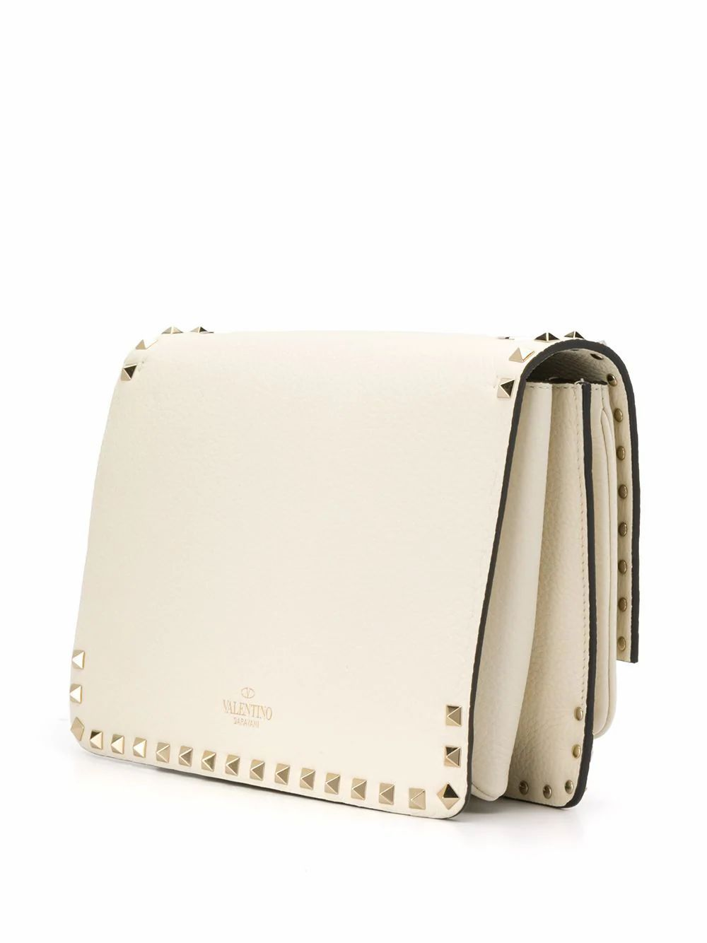 VALENTINO WOMEN'S TW2B0F43CWZI16 WHITE LEATHER SHOULDER BAG
