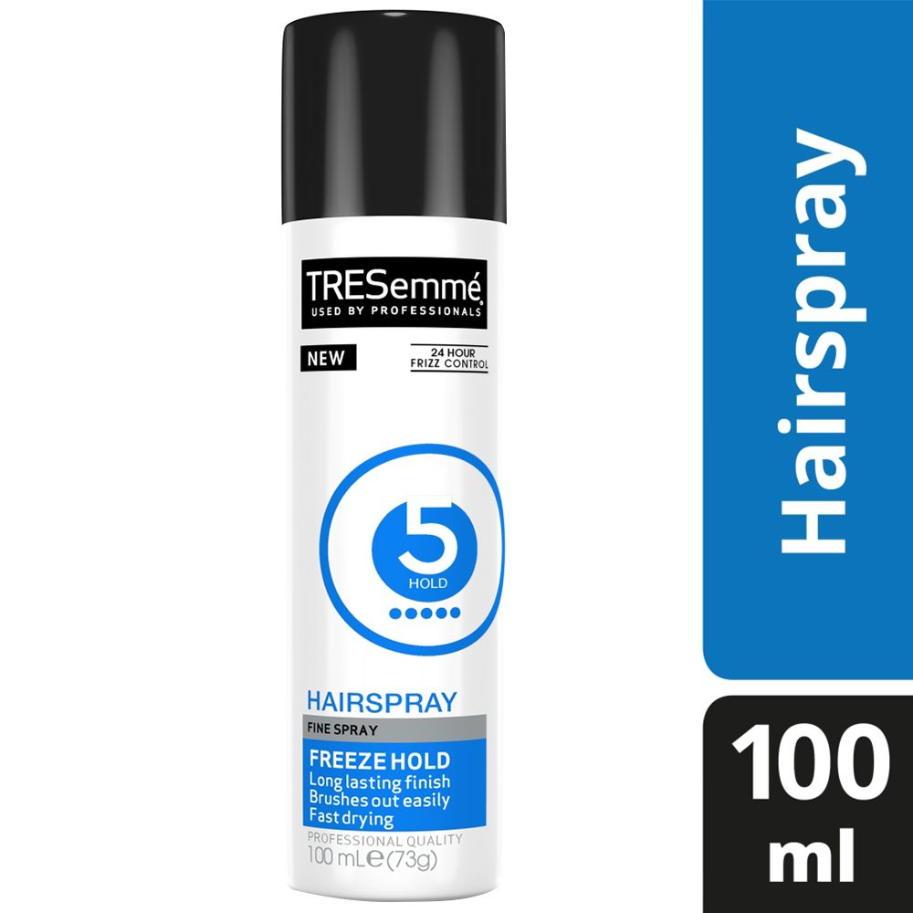 TRESemme 24 Hour Frizz Control Hair Spray, Freeze Hold, Pack of 5, 100ml