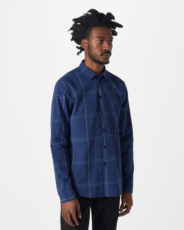 Seersucker Large Check Shirt