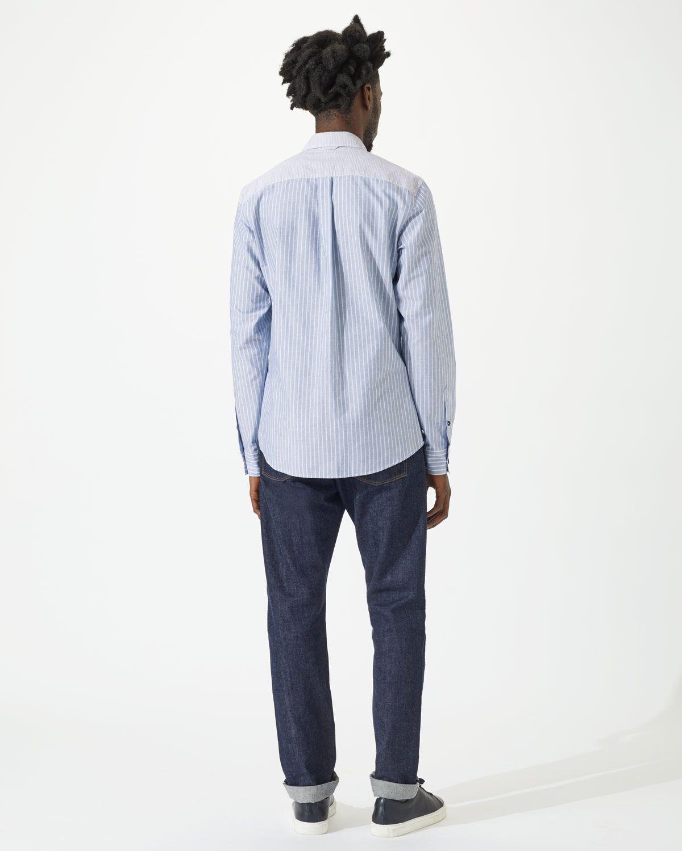 Patchwork Stripe Long Sleeve Shirt
