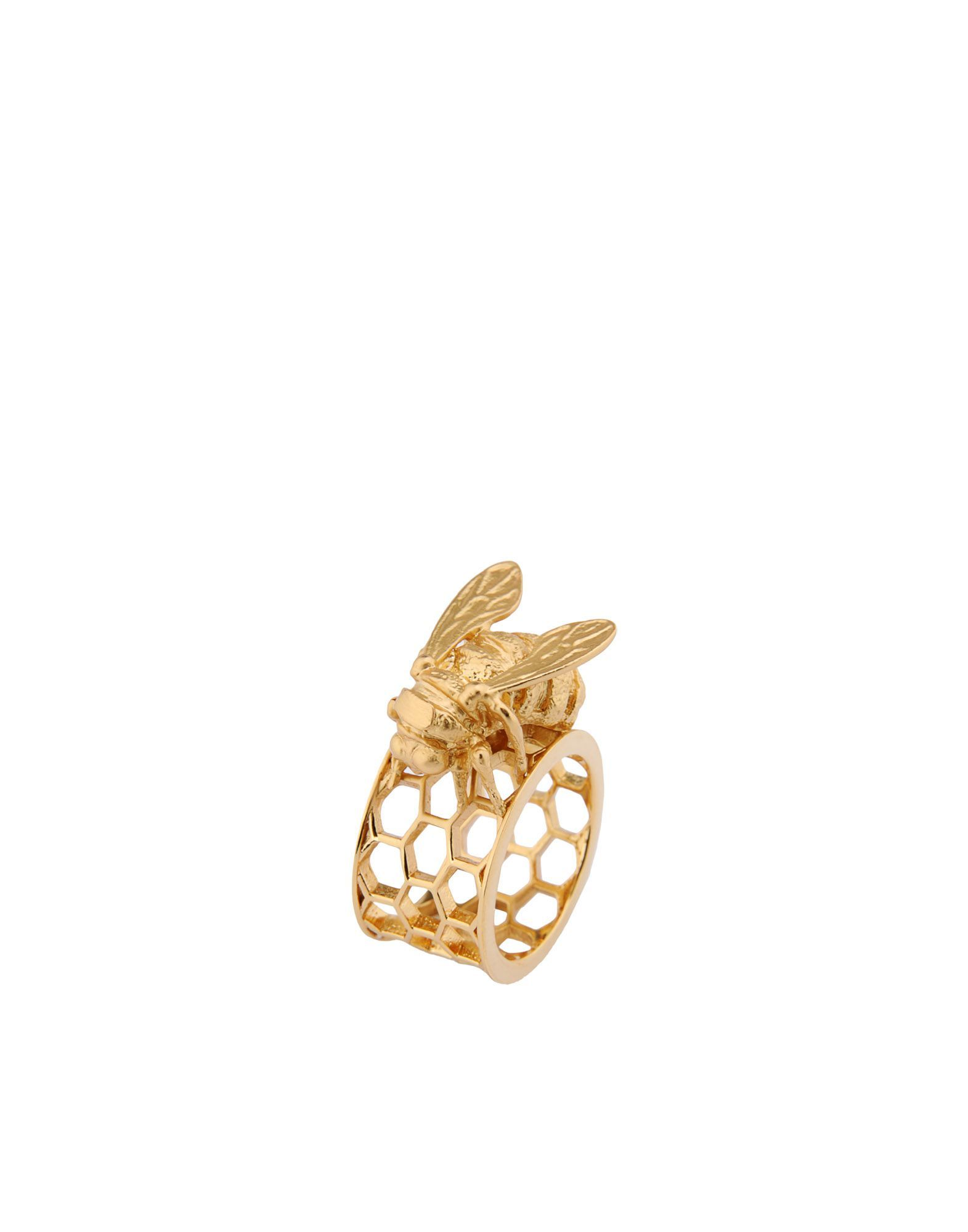 Bill Skinner Gold Plated Honeycomb Bee Ring