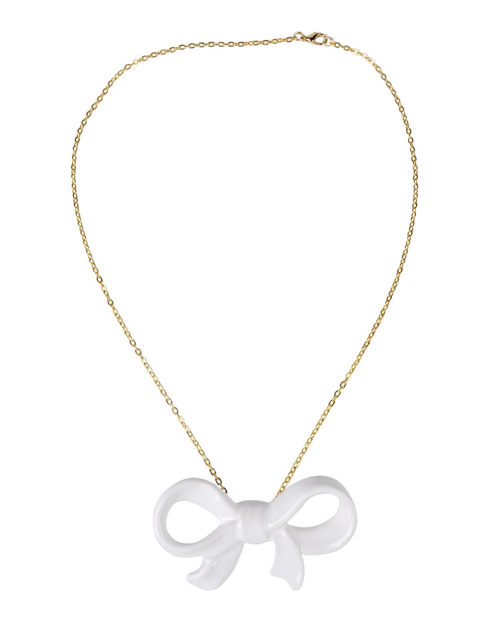 Cor Sine Labe Doli White Ceramic Bow Necklace