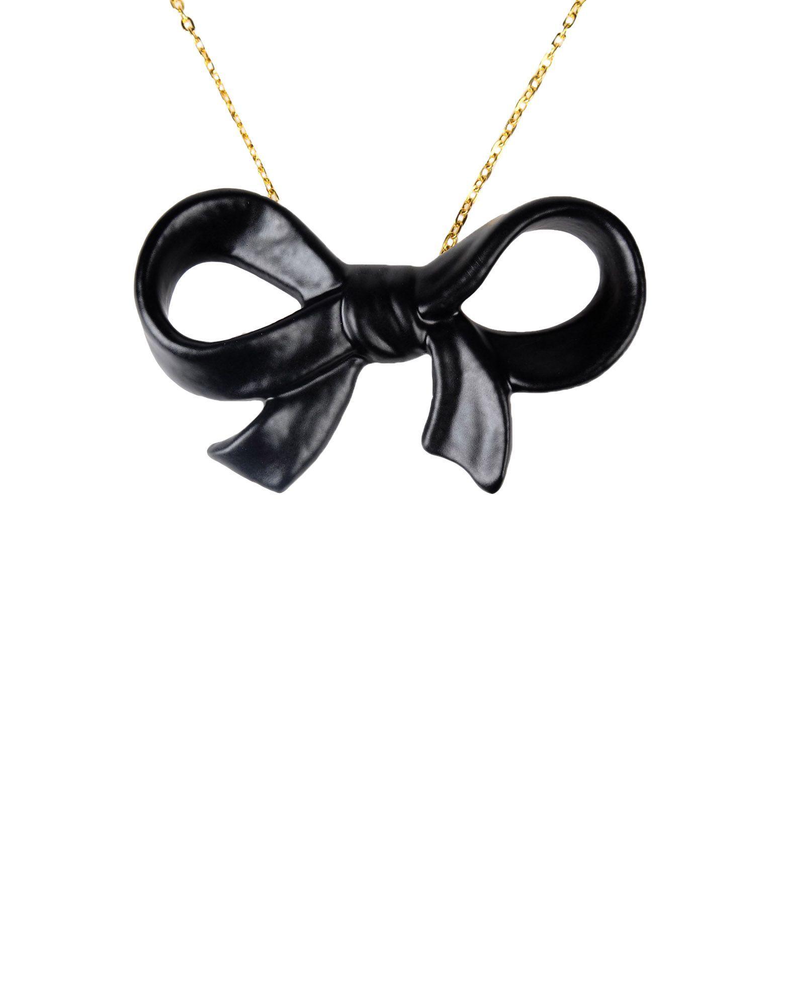 Cor Sine Labe Doli Black Ceramic Bow Necklace