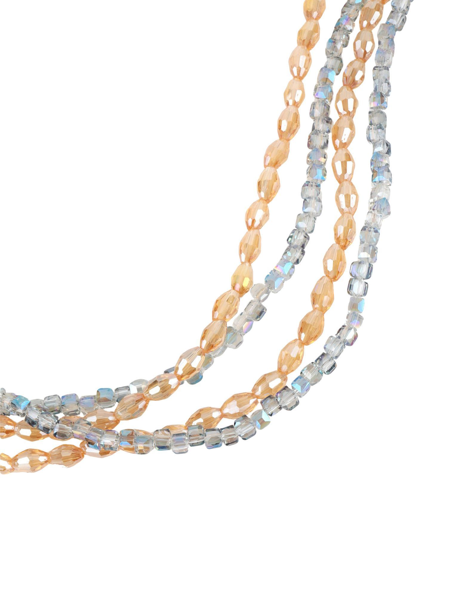 Gaudì Light Grey Glass Beaded Multi Strand Necklace