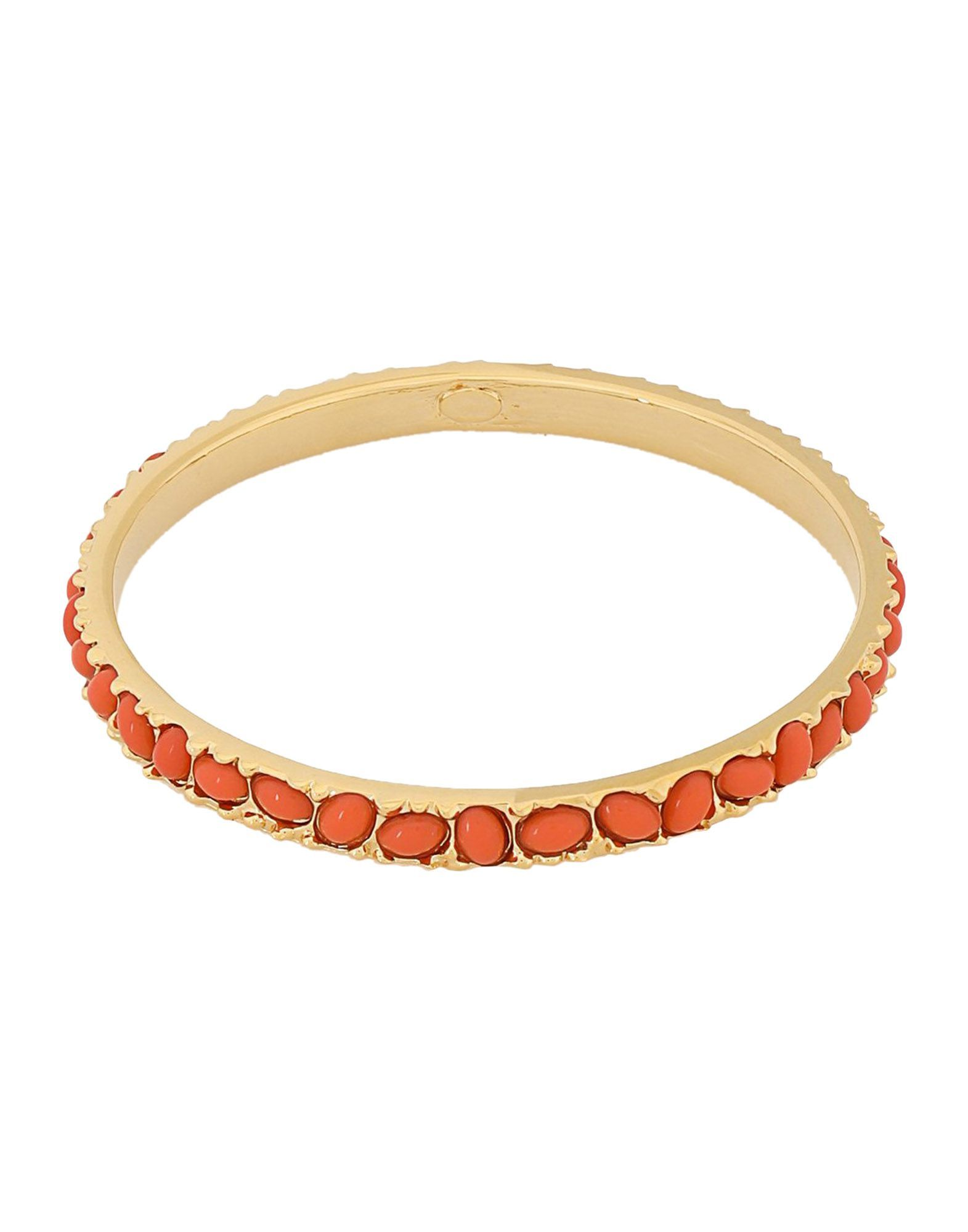 Kenneth Jay Lane Orange Gold Plated Bracelet