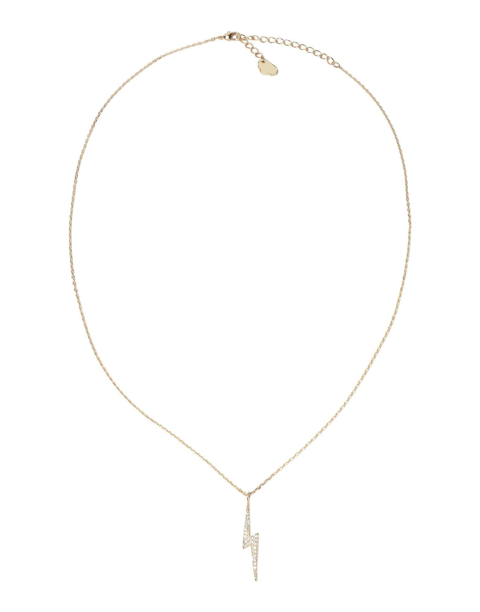 Estella Bartlett Gold Plated Thunder Bolt Necklace