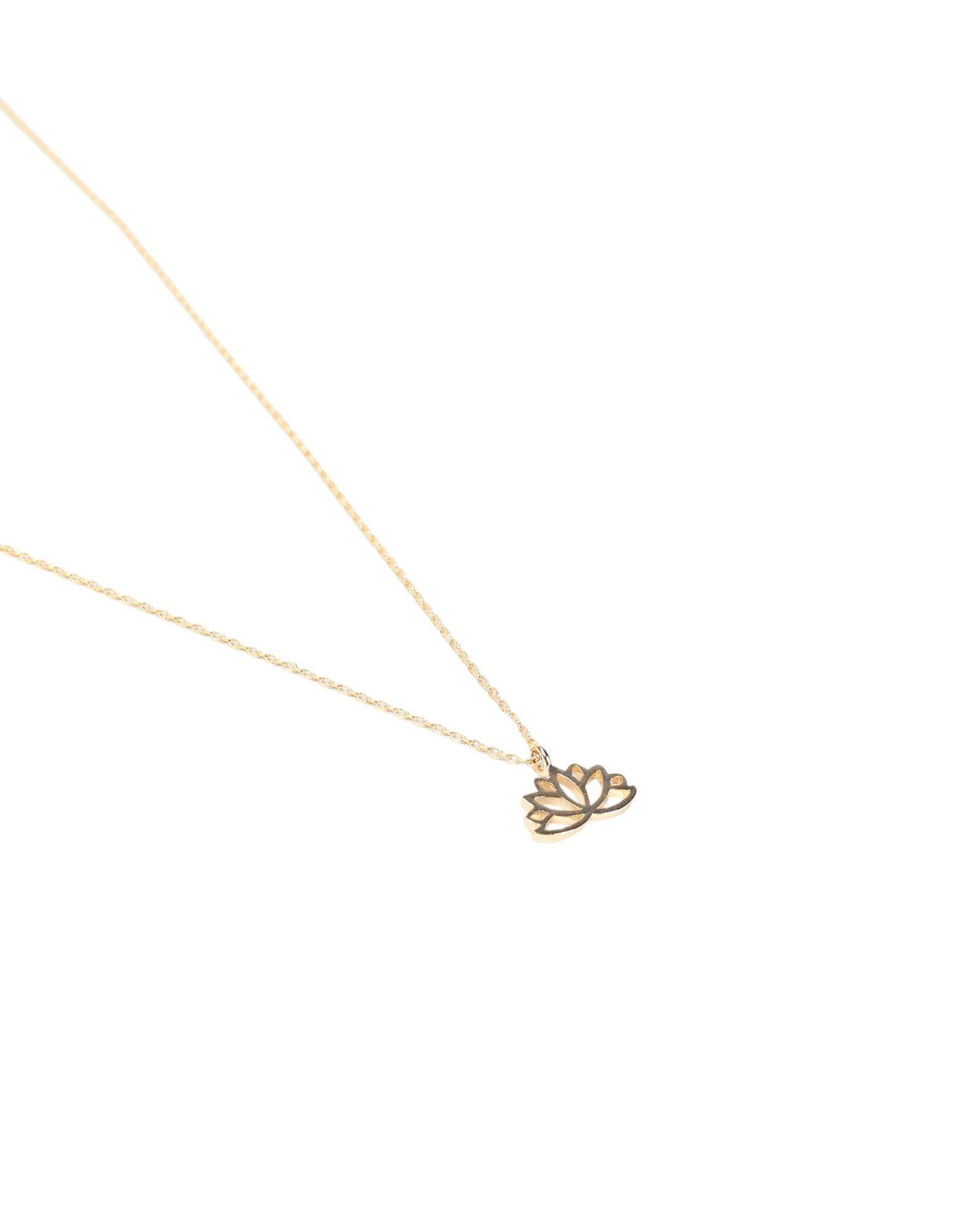 Estella Bartlett Gold Plated Lotus Necklace