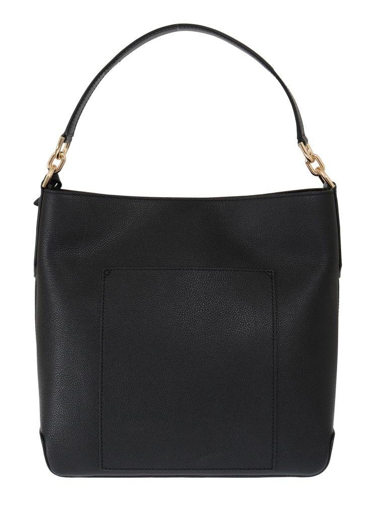 Michael Kors Black HAYES Leather Bucket Shoulder Bag
