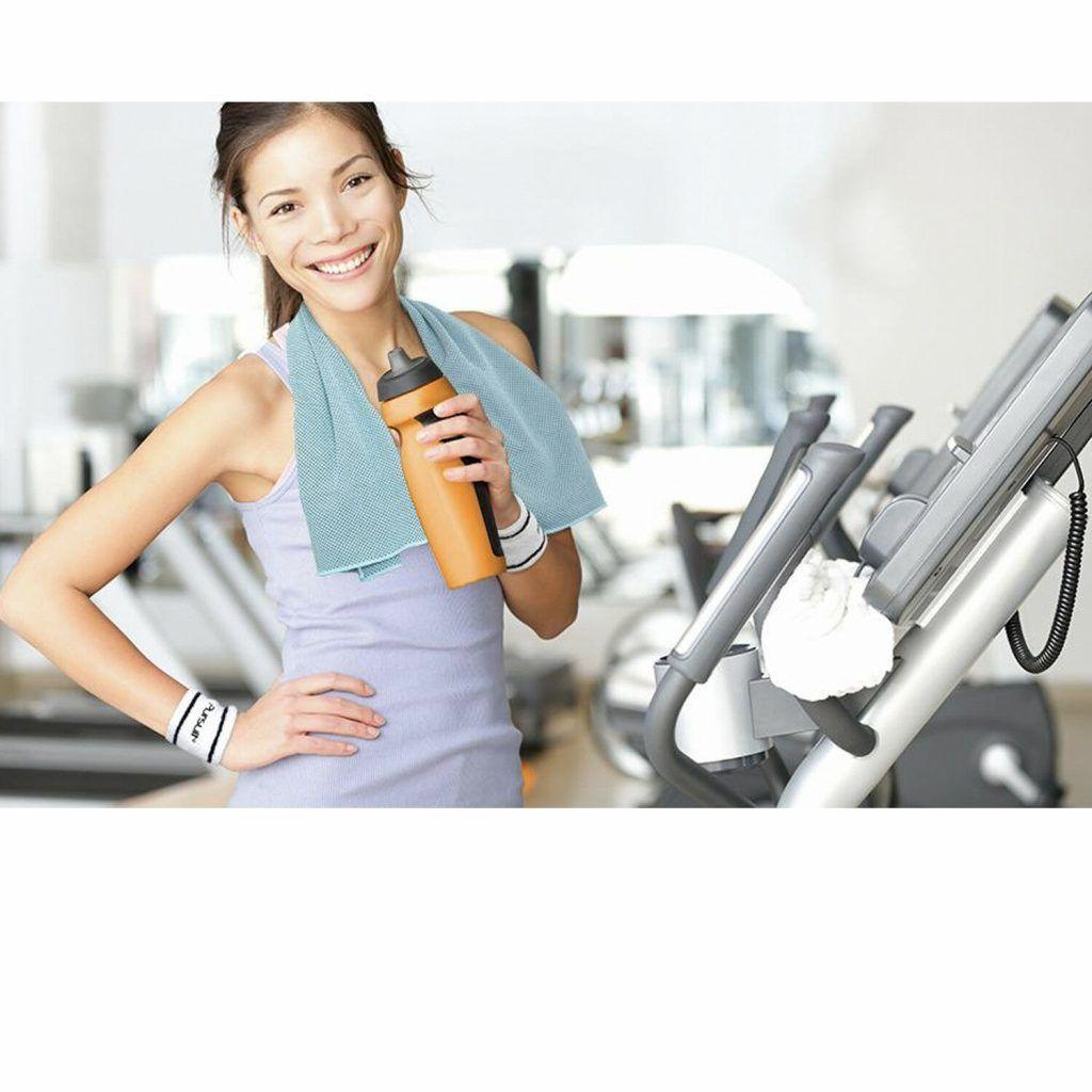 Summit Pursuit Fitness Gym Gift Set - Orange/Blue