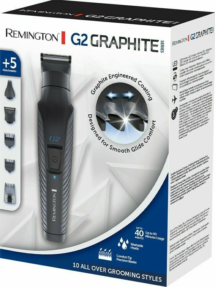 Remington Graphite G2 Multi-Grooming Kit, Electric Body, Detail and Beard Trimmer, PG2000