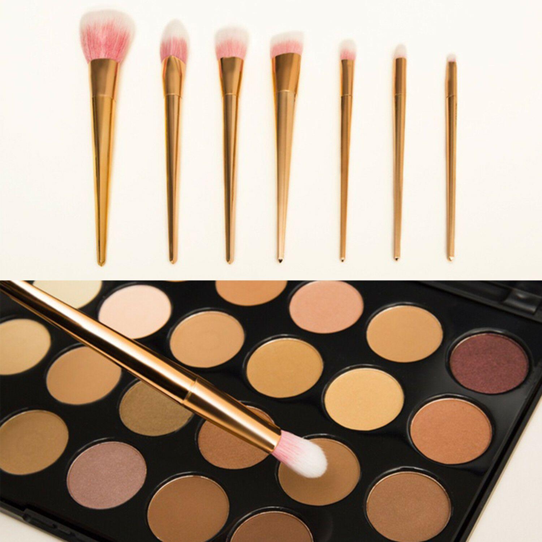 Aquarius 7 Piece Rose Gold Professional Make-Up Brushes Set