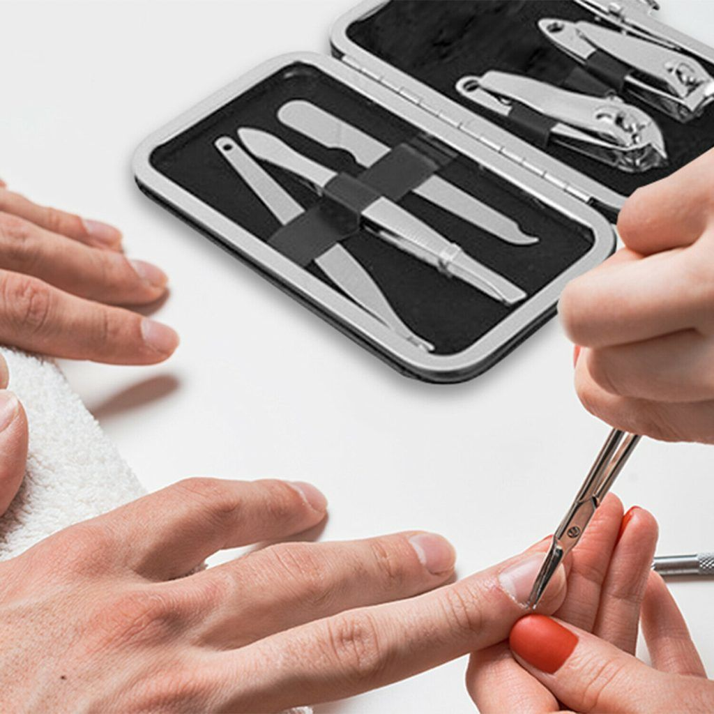 Stainless Steel Mens Manicure Kit 6 Piece