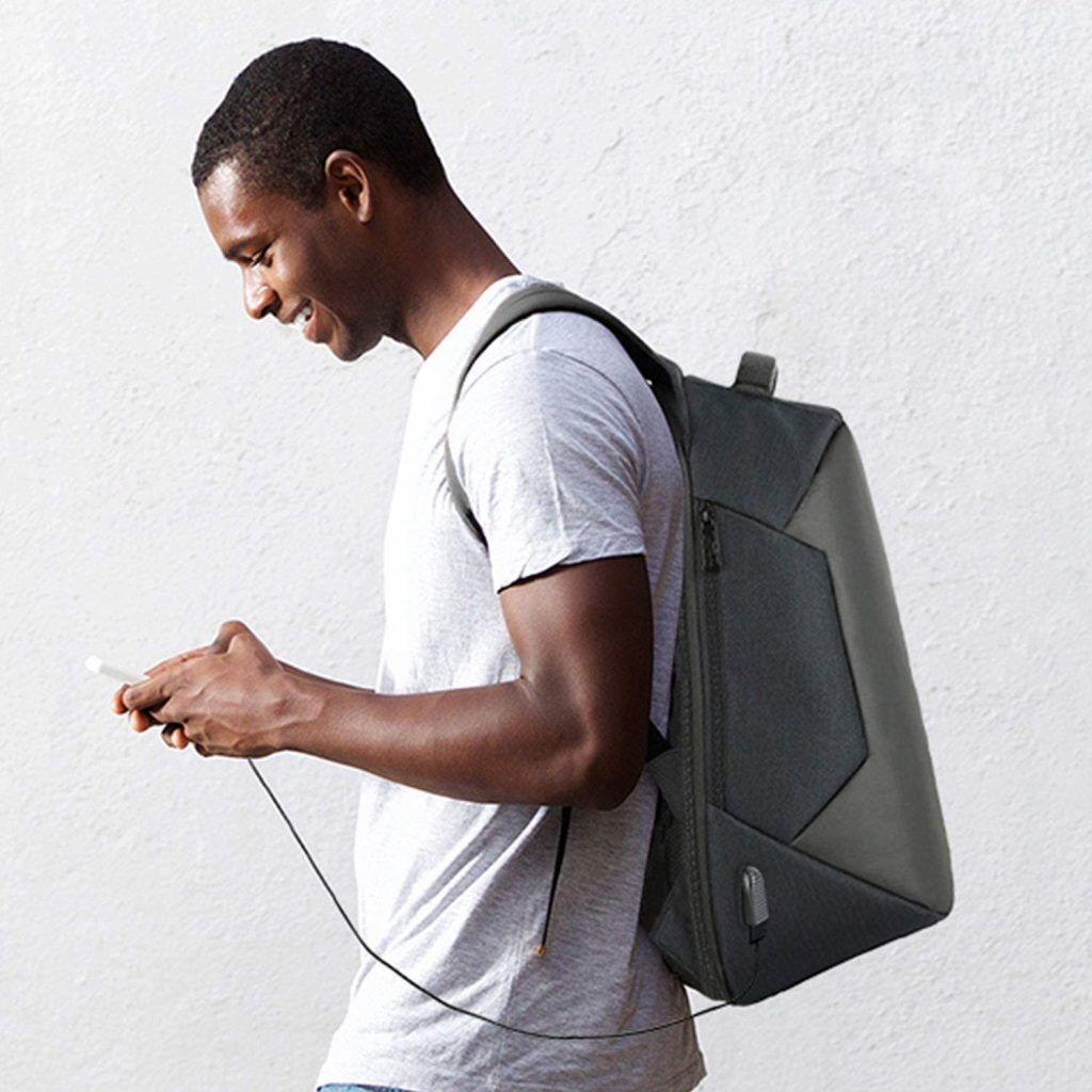 Aquarius Advanced Anti-Theft Backpack with USB Charging Port - Black