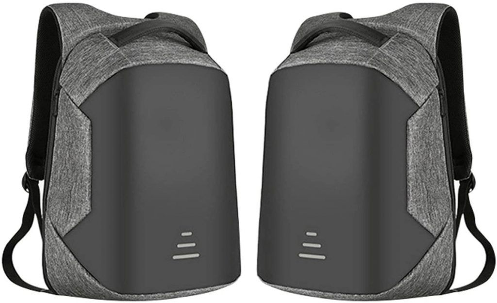 Aquarius Advanced Anti-Theft Backpack with USB Charging Port - Grey