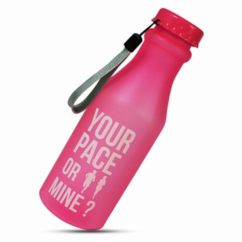 Aquarius Water Bottle Your Pace or Mine 550ml Pink