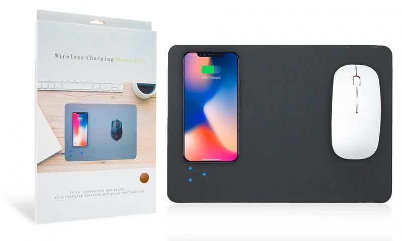 Wireless Charging Mouse Mat- Black