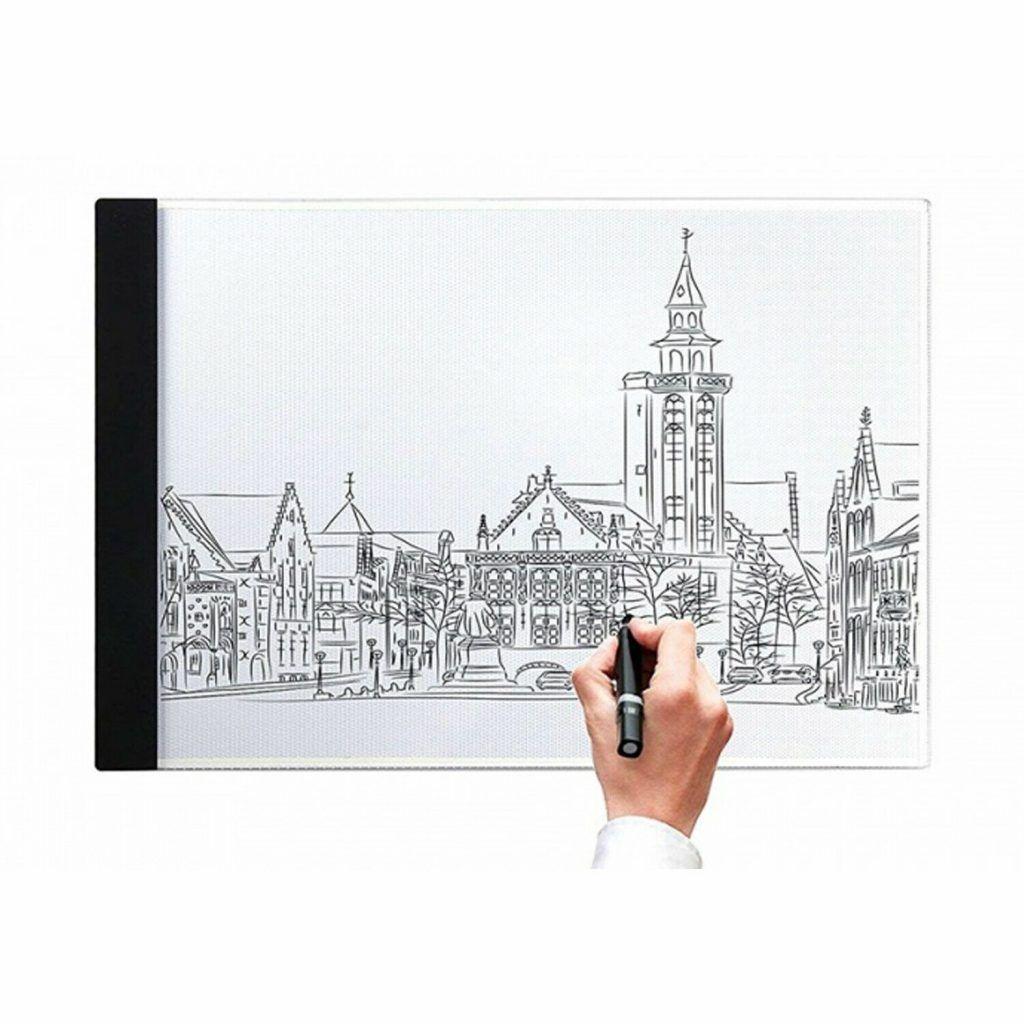 Doodle A4 LED Art Light Box With Brightness Black