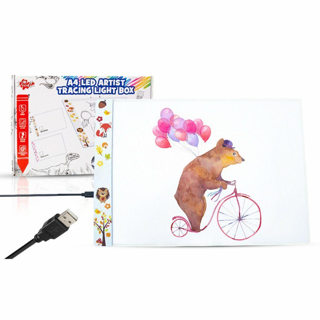 Doodle A4 LED Art Light Box With Brightness Wildlife