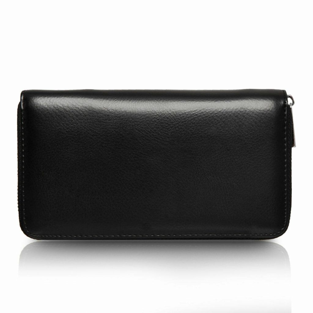 Flo Fashion Leather Travel Wallet with RFID Black