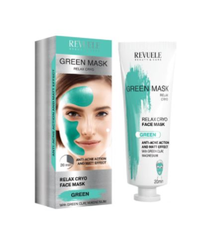 Revuele Green Relaxing Cryo Face Mask - Pack of 2