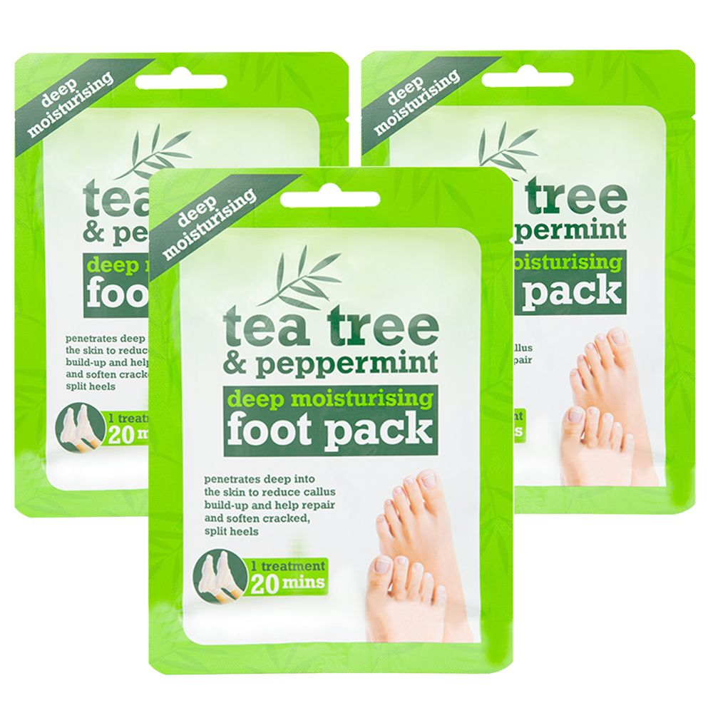 Tea Tree & Peppermint Deep Moisturising Foot Pack x3 Treatments