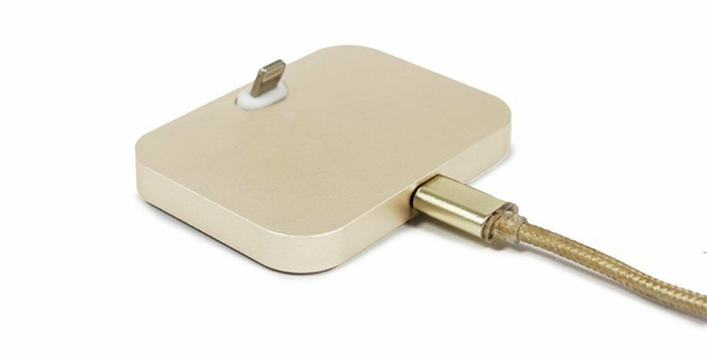 Aquarius Aluminium iPhone Dock Gold