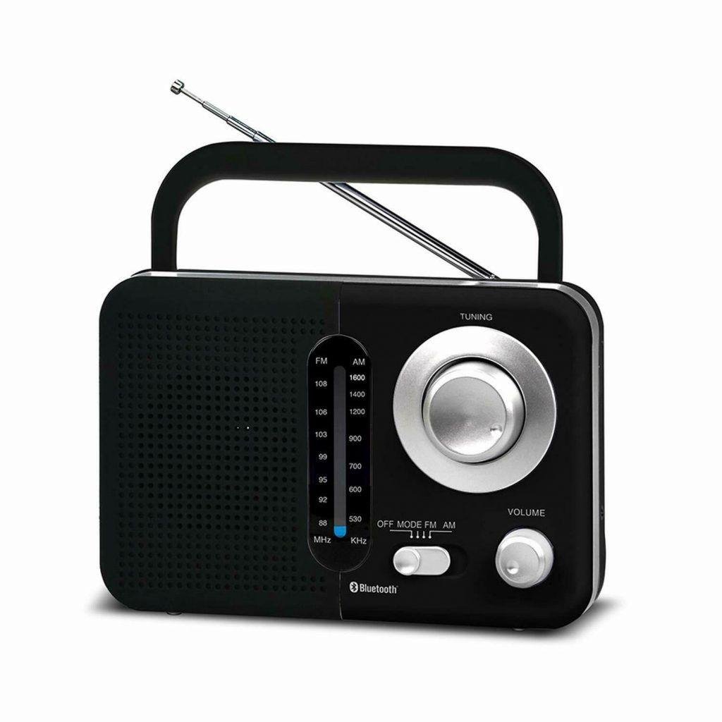 Soundz SZ412 AM/FM Portable Bluetooth Radio With USB Port And SD Card Slot Black