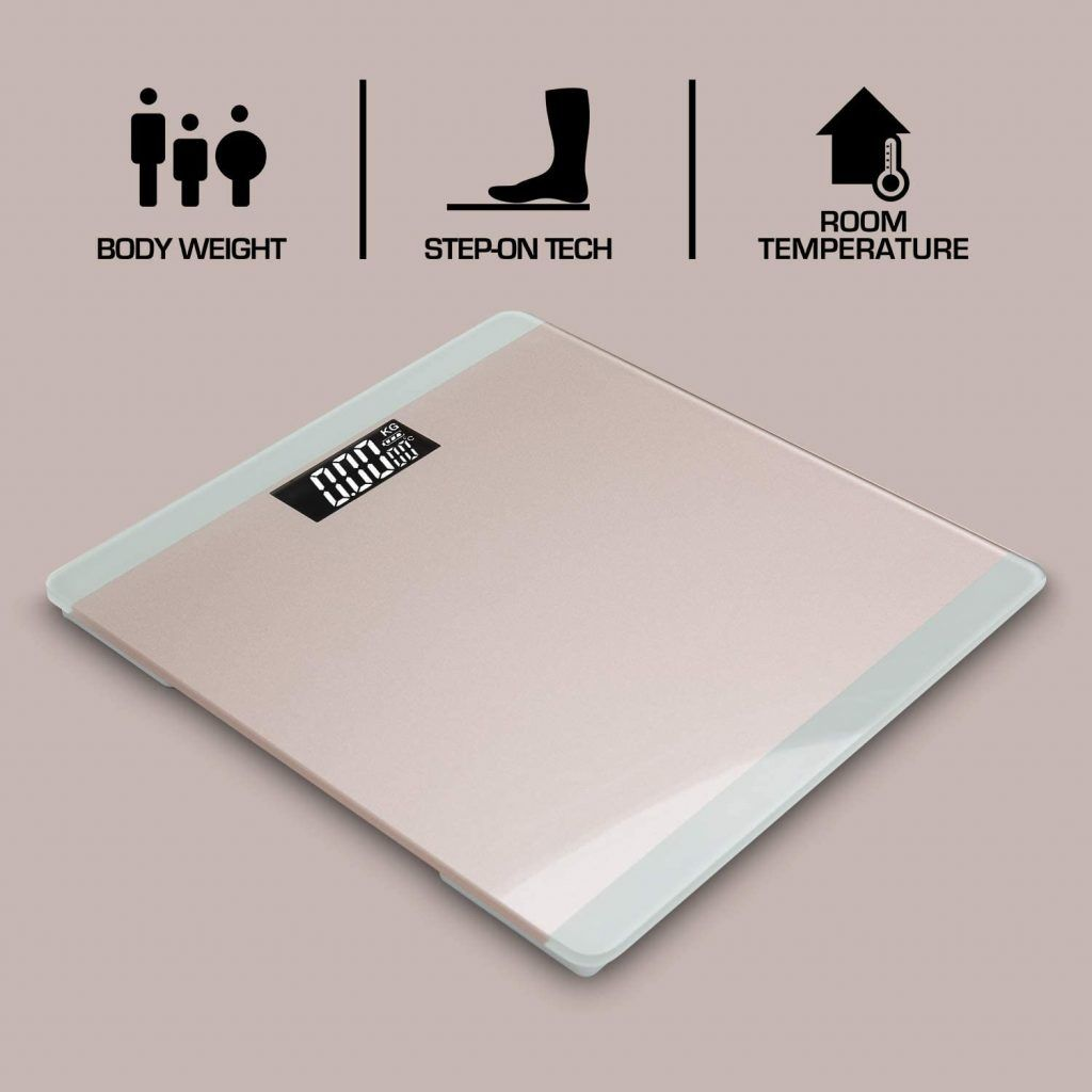 3 in 1 Digital Bathroom Scale - Rose Gold