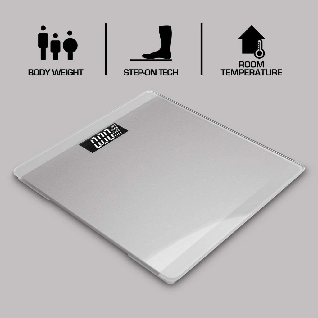 3 in 1 Digital Bathroom Scale - Silver