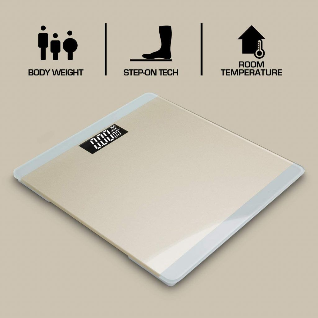 3 in 1 Digital Bathroom Scale - Gold