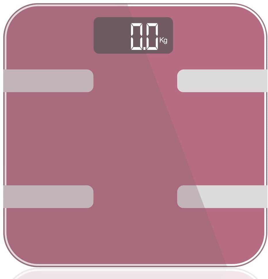 9 in 1 Digital Bathroom Scale - Rose Gold