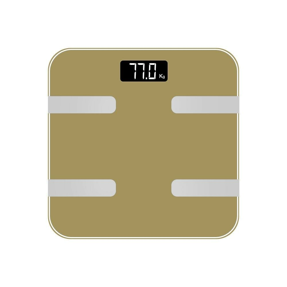 AQ 9 in 1 Digital Bathroom Weighing Scales Gold