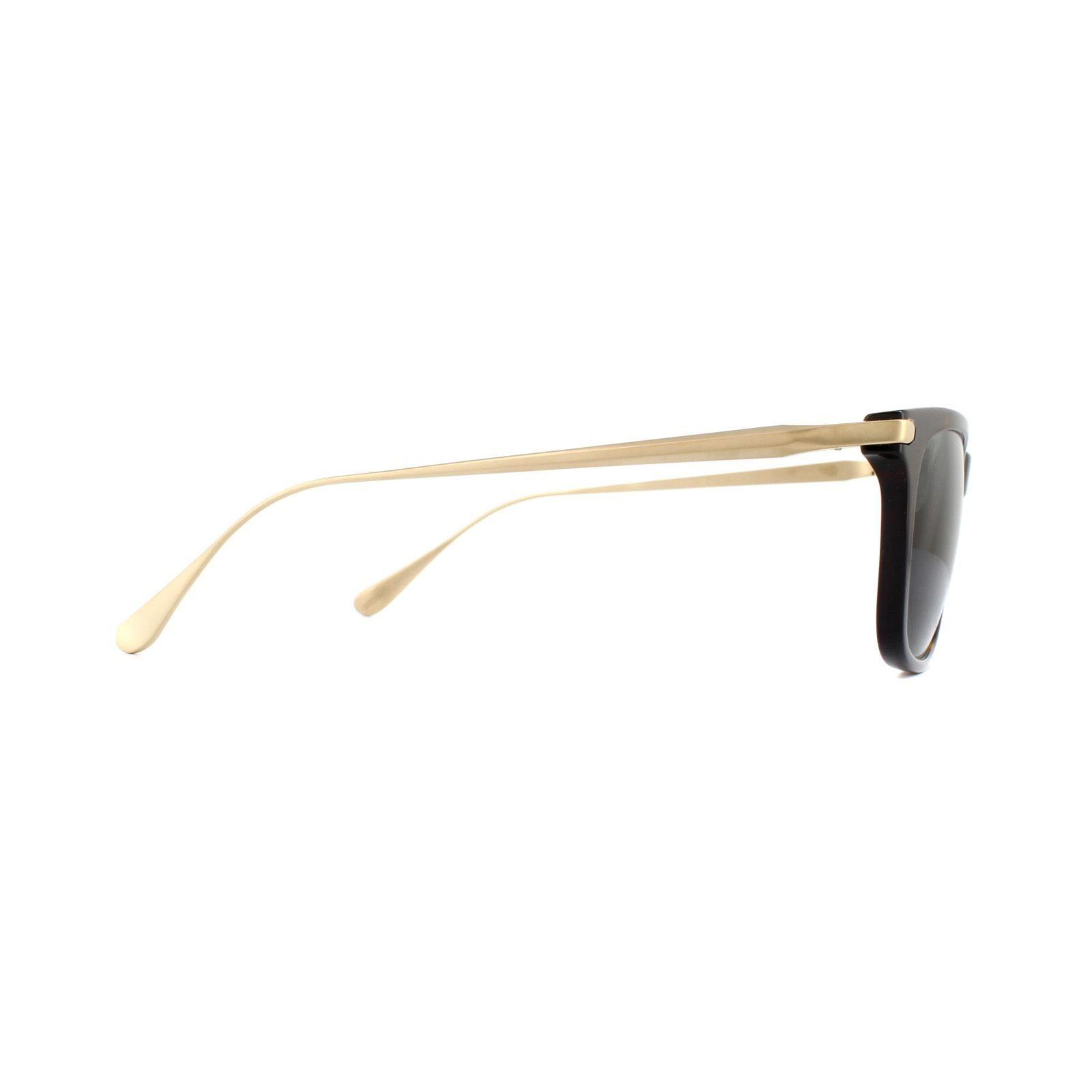 Dunhill Sunglasses SDH018 722P Shiny Dark Havana Green Polarized